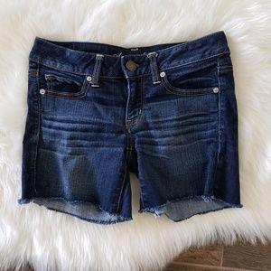B2G1 American Eagle Dark Wash Raw Hem Denim Shorts